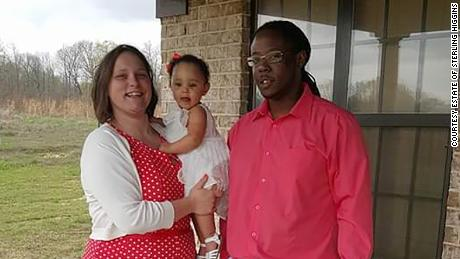 Sterling Higgins with his daughter and her mother, Jennifer Jenkins, the administrator of Higgins' estate.