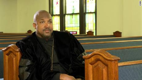 Rev. Robert Turner at Vernon A.M.E Church in Tulsa