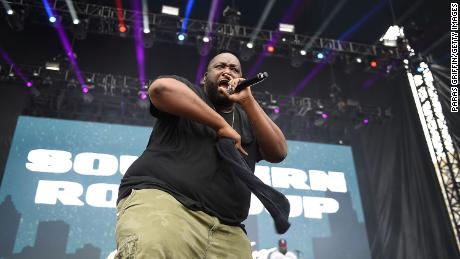 Rapper Killer Mike performs onstage at Outkast #ATLast Concert at Centennial Olympic Park in Atlanta.