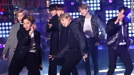 BTS performing in New York in December. (Photo by Noam Galai/Getty Images)