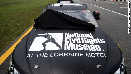 FedEx removed its branding from Denny Hamlin's Talladega car to highlight the National Civil Rights Museum.