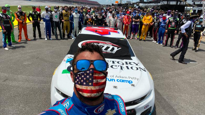 NASCAR drivers rally around racism target Bubba Wallace