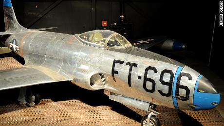 F-80 Shooting Star Korean War-era fighter at National Musuem of the US Air Force
