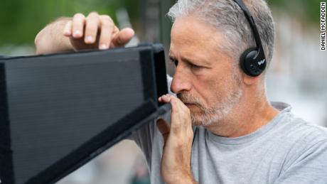 Director Jon Stewart on the set of 'Irresistible.' (Daniel McFadden/Focus Features)