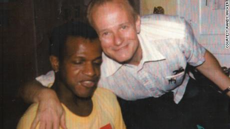 Marsha P. Johnson with friend Randy Wicker