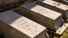 "The graves of seven Congolese people brought to Belgium to be put on display in an ""African village"" in Brussels, which has been described as a ""human zoo."""