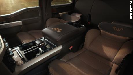 In higher-end versions of the F-150 the front seats can lay all the way back so they function as beds.