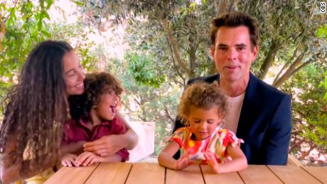 Jason Thompson accepted an award with his family during the Daytime Emmy Awards in June.