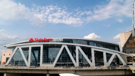 State Farm Arena is pictured in March.