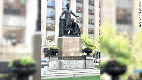 Boston to remove statue depicting freed slave kneeling before President Lincoln