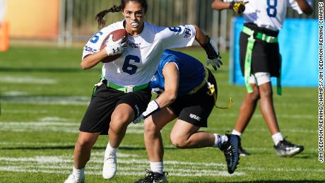 Teams from around the U.S. participate in the NFL Flag Football Championships.