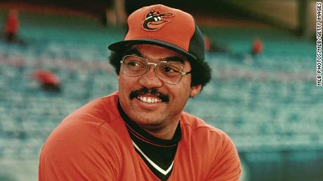 Reggie Jackson of the Baltimore Orioles poses for a photo during the 1976 season.
