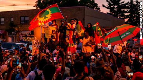 The Ethiopian diaspora community in Minnesota mourns Hachalu's death on Wednesday.