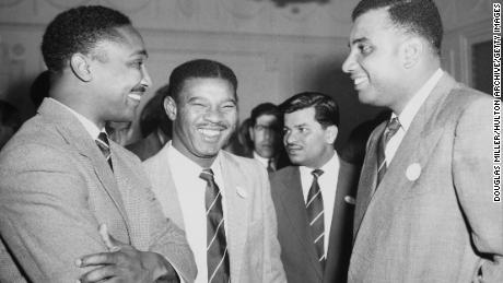 "Left to right: Frank Worrell, Everton Weekes and Clyde Walcott made up the famous ""Three Ws"" of Bajan and West Indian cricket."