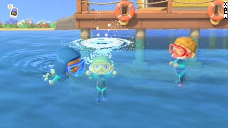 'Animal Crossing,' a Nintendo Switch bestseller, now lets you go swimming