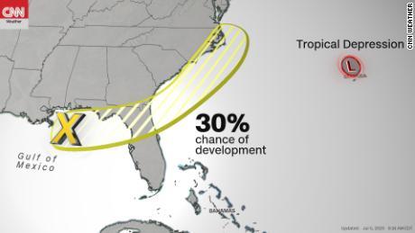Tropical depression heads for Bermuda