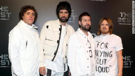 (Left to right) Kasabian members Ian Matthews, Serge Pizzorno, Tom Meighan and Chris Edwards, pictured at the Best FIFA Football Awards 2017 in London.