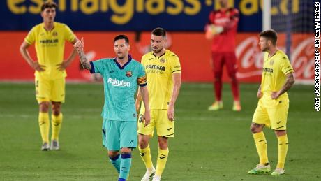 Lionel Messi helped Barcelona beat Villarreal on Sunday.