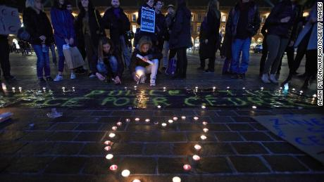 People gather in Toulouse on January 8 to demand justice for Cedric Chouviat.