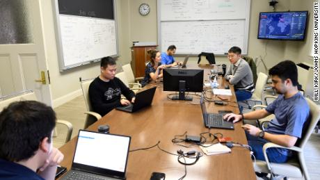 Gardner and her team work to maintain the Covid-19 dashboard,  built by her team at Johns Hopkins University.