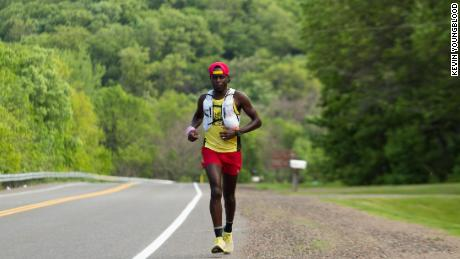 Coree Woltering completed the near 1,200 miles in record time.