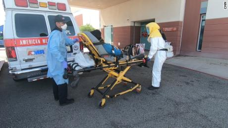 Another patient arrives at El Centro Regional Medical Center, where the ICUs are already full.