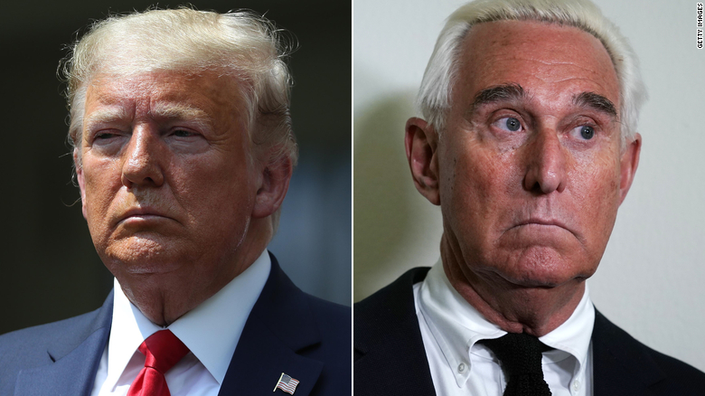 Trump says he's 'looking at' pardoning Roger Stone ahead of prison term