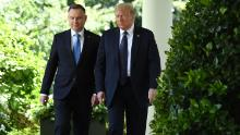 US President Donald Trump endorsed Duda in the days leading up to the first round of voting.