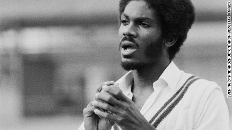 Michael Holding pictured on June 16, 1976.