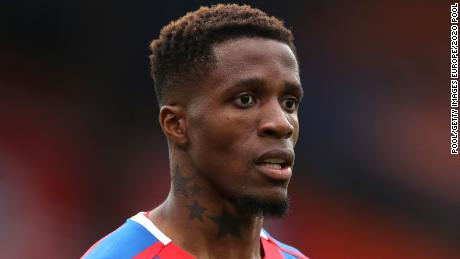 Wilfried Zaha revealed he had been racially abused on social media ahead of Crystal Palace's game against Aston Villa.
