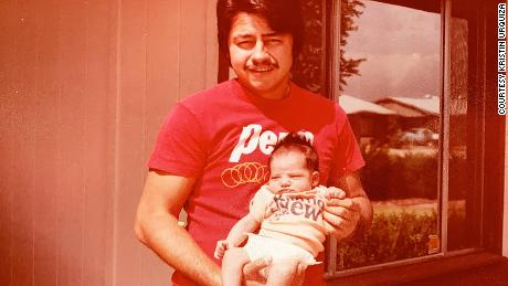 Mark Urquiza with his only daughter Kristin.