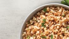 Chipotle's new cauiflower rice is available in US and Canada.