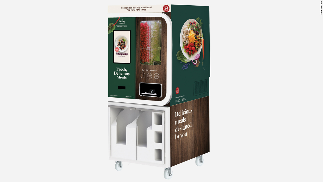 "<a href=""https://edition.cnn.com/2020/07/13/success/food-office-coronavirus/index.html"" target=""_blank"">Chowbotics</a> -- a California-based tech startup that sells robot vending machines -- says it has seen an uptick in demand for its fresh food robot ""Sally,&cotización; which serves custom-made salads, grain bowls and a variety of yogurts. Pre-pandemic, Sally was used most regularly in hospitals, but now it's replacing the salad bars in some office cafeterias."