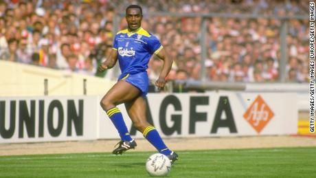 Laurie Cunningham playing for Wimbledon in the 1988 FA Cup final win against Liverpool.
