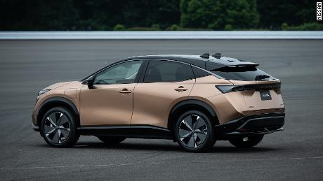 Nissan unveiled its first electric SUV, called the Ariya.