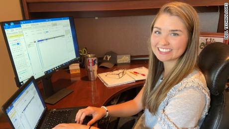 Jordan Mcelroy is an intern at Dell this summer. The company moved its summer intern program completely online this year.