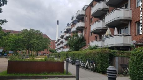 Copenhagen's Mjolnerparken estate consists of a series of tidy red-brick, low-rise apartment blocks set around green squares.