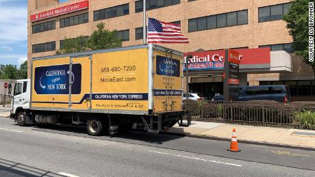 The paintings were delivered by truck to Interfaith Medical Center in Brooklyn.