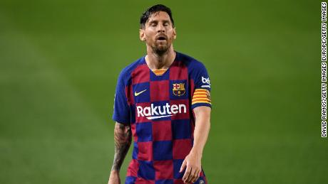 A frustrated Lionel Messi couldn't prevent a shock defeat for Barcelona.