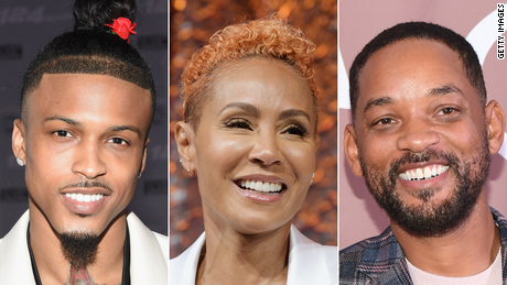 (From left) August Alsina was the other man in Jada Pinkett Smith and Will Smith's troubled marriage.
