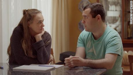 """Counselor Jodi Rodgers and Michael in """"Love on the Spectrum."""""""