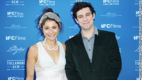 Alexi Pappas and partner Jeremy Teicher attend the IFC Films Spirit Awards Party in Santa Monica, California, earlier this year.