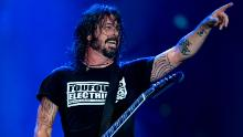 "Dave Grohl of Foo Fighters performs onstage during the ""Rock in Rio"" festival at the Olympic Park, Rio de Janeiro, in September 2019."
