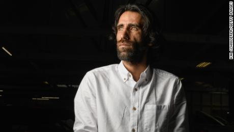 Behrouz Boochani poses during a photo shoot on November 19, 2019 in Christchurch, New Zealand.