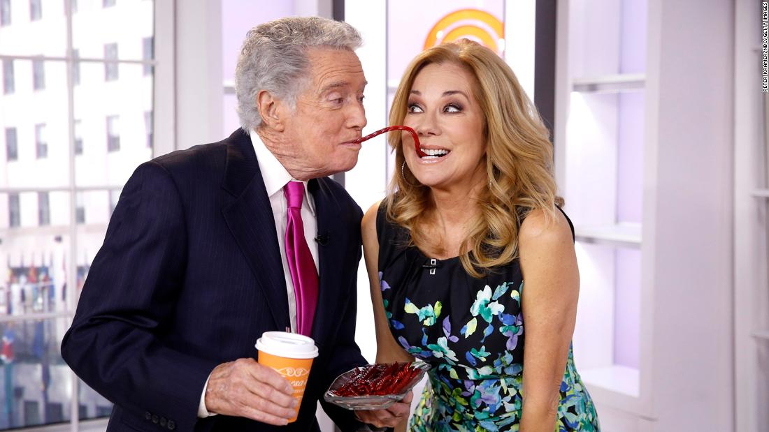 "Regis Philbin and Kathie Lee Gifford appear on NBC's ""Today"" in 2015."