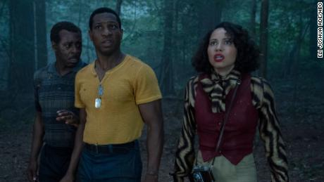 (From left) Courtney B. Vance, Jonathan Majors and Jurnee Smollett explore 1950s America. ¡Ay!.