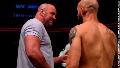UFC president Dana White says his 'Fight Island' idea has been a success.