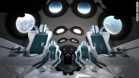 Virgin Galactic's reveals cabin design for VSS Unity spaceship