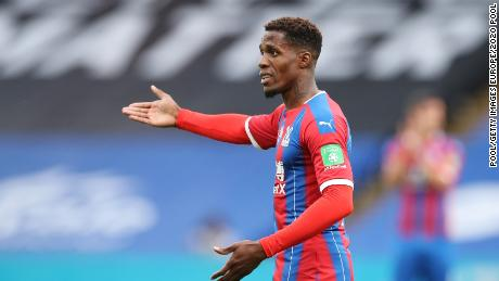 Wilfried Zaha playing for Premier League side Crystal Palace.