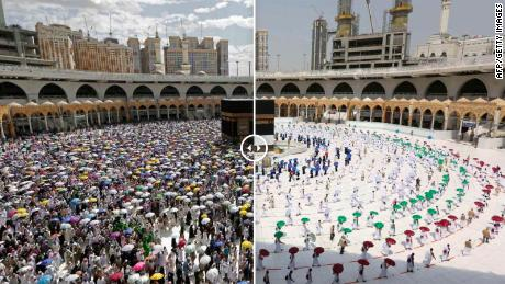 Normally, over 2 million pilgrims attend the Hajj. This year only around 1,000 worshipers are at the annual pilgrimage after Saudi authorities imposed strict crowd control and hygiene measures because of fears of the coronavirus pandemic. Officials say that this year's pilgrims underwent a rigorous selection process.
